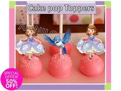 Sofia The First Printable Cake Pops Toppers, Cupcakes Toppers picks, YOU PRINT #Disney #party