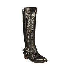 SAVIORR BLACK LEATHER women's boot flat casual - Steve Madden ugg Cyber Monday View More: www.yi5.org