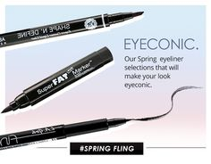 EYECONIC! Shop our great selection of eyeliners for this spring. Spring fling vibe with our black liners!  Shop at - http://www.pick6deals.com/…/pick6…/pick6deals-eye-liner.html