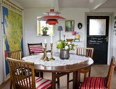 Casinha colorida: Uma cottage boho na Suécia