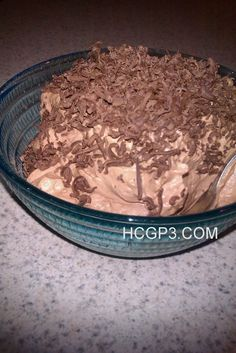 HCG Recipes Phase 3: P3 Chocolate Mousse