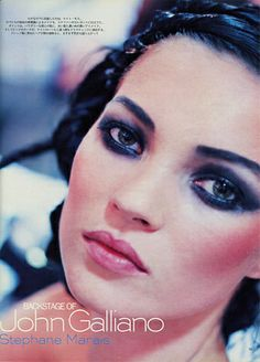 IN BACK STAGE 1997. Make Up by Stephane Marais. Jhon Galliano. Model / Kate Moss