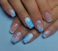 Looking for fresh ideas for winter nail designs? ❤ We picked up for you the best photos of the most relevant winter nail art 2020 ❤ See more at LadyLife French Nail Designs, Winter Nail Designs, Winter Nail Art, Christmas Nail Designs, Toe Nail Designs, Winter Nails, Chic Nails, Stylish Nails, Trendy Nails