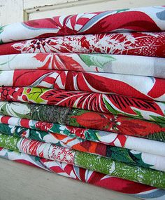 Christmas Vintage tablecloth collection from Into Vintage