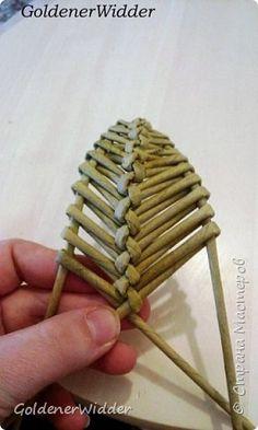 Поделка изделие 8 марта Плетение Листик крылышко или просто декоративная штучка…