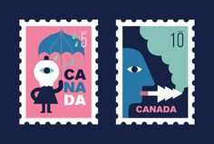 This illustrated series of stamps aims to highlight environmental degradation in Canada.