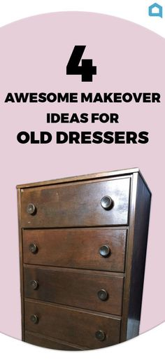 Got an old dresser that is in serious need of a makeover? Here are 4 awesome ideas that will give you the inspiration you've been looking for!  Get the full tut…
