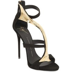 GIUSEPPE ZANOTTI 120mm Bar Detail Suede Sandals - Black ($1,905) ❤ liked on Polyvore featuring shoes, sandals, black, giuseppe zanotti, giuseppe zanotti shoes, suede sandals, suede shoes and high heel sandals