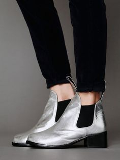 When I die bury me in silver leather shoes- Free People Jagger Ankle Boot
