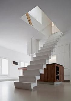 staircase of Modern Apartment Renovation in Bright Design