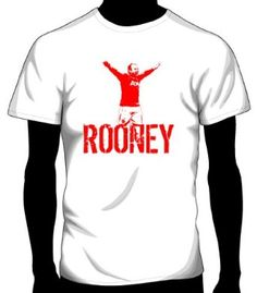 go rooney the great! Manchester United Fans, Wayne Rooney, Man United, Branded T Shirts, Fashion Brands, Fill, Soccer, The Unit, Printed