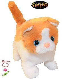 Cat Electronic Toy Walking with Sound and Super-Soft Fur Batteries Operated Gift #FUNTIVO