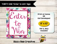 Jewelry  Enter To Win  Door Prize Form  Drawing Slip  Raffle