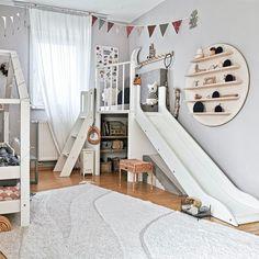 Kids Bedroom Designs, Kids Room Design, Baby Bedroom, Baby Boy Rooms, Cama Design, Toddler Playroom, Montessori Toddler Rooms, Small Playroom, Modern Playroom