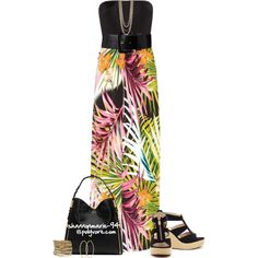 """Tropical Maxi Dress"" by shannonmarie-94 on Polyvore"