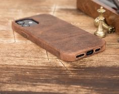 Genuine leather cover Iphone Leather Case, Iphone Wallet Case, Iphone Cases, Handmade Leather Wallet, Car Holder, Leather Watch Bands, Leather Cover, Apple Watch Bands, Mini