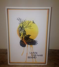 Visible Image stamps - Crow Tree Stamp - Leave Your Fears Behind - Mark Alexander