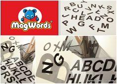 26 szt - Literki Magnetyczne dla Dzieci - ALFABETY w MagWords® - More than Words na DaWanda.com