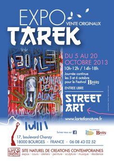 Exposition :: Tarek-Street art :: Bourges   7seizh.info