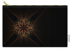 Carry-all Pouch featuring the digital art Starry Rays by Elena Ivanova IvEA    #ElenaIvanovaIvEAFineArtDesign #Decor #Gift #CarryAllPouches