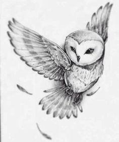 Barn Owl Tattoo Design - 30 Amazing Owl Tattoo Designs and Drawings – Barn Owl - Body Art Tattoos, New Tattoos, Sleeve Tattoos, Cool Tattoos, Awesome Tattoos, Tattoo Neck, Phoenix Tattoos, Circle Tattoos, Wrist Tattoos