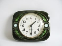 Ceramic Wall Clock by Junghans / 60s 70's by OldishButGoldish