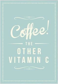 Be sure you get the recommended daily dose! #MrCoffee #CoffeeHumor #VitaminC