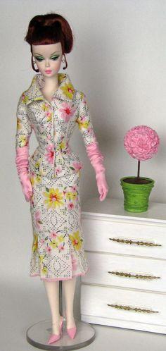 Linen suit for Silkstone Barbie by HankieChic on Etsy, $50.00