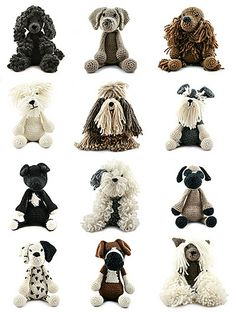 Pattern part of Edward's Menagerie Dogs. Available as a download from Toft Shop with purchase.