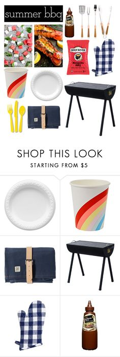 """""""BBQ"""" by sewing-girl ❤ liked on Polyvore featuring interior, interiors, interior design, home, home decor, interior decorating, Meri Meri, Sur La Table, Schmidt Brothers and summerbbq"""