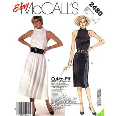 1980s Sleeveless Dress Sewing Pattern by finickypatternshop, $9.95