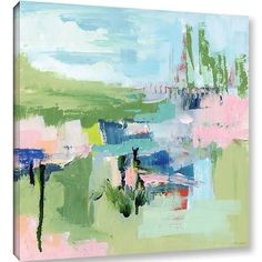 Varick Gallery Intuition Abstract Painting Print on Wrapped Canvas; 24 H x 24 W x 2 D