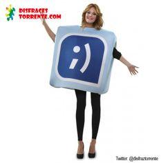 Disfraz de Tuenti El icono red social. Conéctate a tu disfraz de