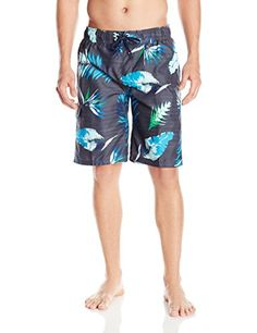 0a0c48fa98 Introducing Kanu Surf Mens Cozumel Floral Swim Trunk Charcoal Large. Great  Product and follow us