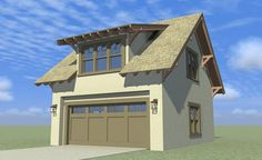 ePlans Bungalow Garage Plan – Bungalow Style Craftsman Garage With Apartment - 1140 Square Feet and 1 Bedrooms from ePlans – House Plan Code HWEPL76724