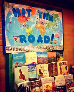 Hit the Road display at the Brantford Public Library
