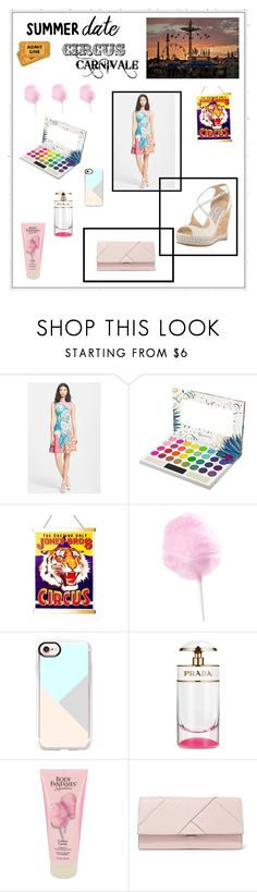 """""""Carnival Summer Date"""" by lauren-ilana ❤ liked on Polyvore featuring Clover Canyon, Casetify, Prada, Michael Kors and Jimmy Choo"""