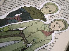 Game of Thrones bookmarks: Jaime Lannister & Brienne of Tarth