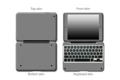 Battleship Grey Matte Antibacterial  #ClamCasePro #Pro #iPad #iPadMini #Apple #Tablet #Tablets #Computers #Keyboard #Gadget #Gadgets #Electronics #Electronic #Shield #Shields #Protector #Protectors #Decals #Skin #Skins #Wrap #Wraps #Vinyl #3M #Antibacterial #Matte #Red #Blue #Black #Grey