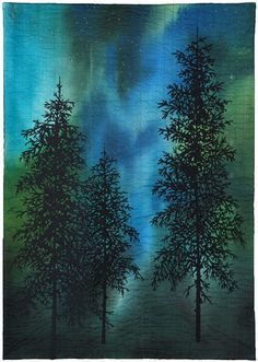 Northern Lights--First Snow Art Quilt by Holly Altman