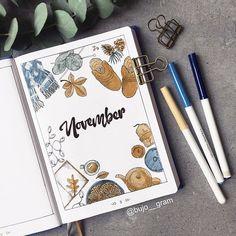 Bullet Journal Cover Ideas, Bullet Journal Inspo, Bullet Journal Spread, Bullet Journal Layout, Journal Covers, Book Journal, Journal Inspiration, Free Printable Planner Stickers, Kalender Design