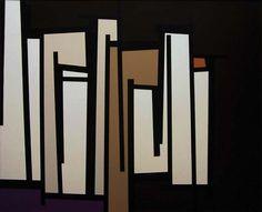 "Carl Benjamin, TG #18, 1961. Oil on canvas, 34 × 42"" http://decdesignecasa.blogspot.it"