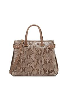 Boulevard 32 Python Tote Bag, Natural by VBH at Neiman Marcus.