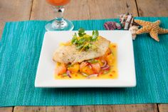 Refresh your traditional holiday dinner with @FloridaOJ Pan-Seared Florida Grouper topped with citrus salad.