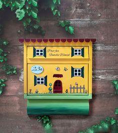 2008 Economic Crisis, Design, Painting, Ideas, Manualidades, Acrylic Painting Inspiration, Mailbox, Yellow, House