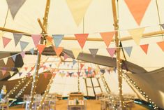 Tipi Fairy Lights Bunting Decor Bedfordshire Farm Wedding Milkbottle Photography #WeddingTipi #FairyLights #Bunting #WeddingDecor #Wedding Wedding Bunting, Tipi Wedding, Farm Wedding, Wedding Decorations, Wedding Day, Macrame Plant Hangers, Church Ceremony, Table Flowers, Wedding Story