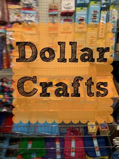 Dollar Crafts - Easy and inexpensive summer fun for the kiddos! View on BargainBriana.com @BargainBriana