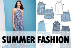 Stay cool in the summer with this stylish jumpsuit - Simplicity pattern 1112!