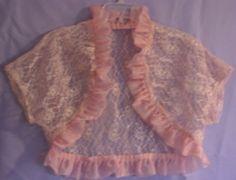 Bridal Bolero,Shrug,Short Sleeve Pink Lace
