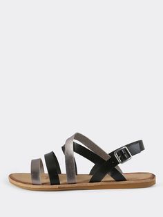 Online shopping for Faux Leather Two Tone Sandals BLACK from a great selection of women's fashion clothing & more at MakeMeChic.COM.